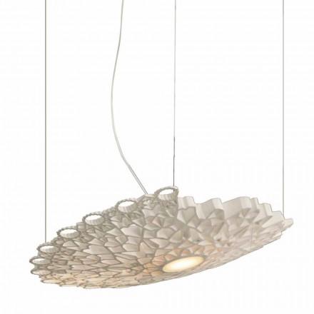 Lampă suspendată în tehnopolimer alb Design 2 dimensiuni - Catedrală