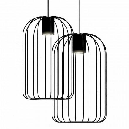 Lampă suspendată modernă cu structură din sârmă metalică Made in Italy - Cage