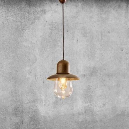 Lampa suspendată vintage cu reflector din alamă - Guinguette Aldo Bernardi