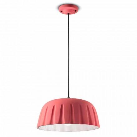 Lampa suspendată din ceramică vintage fabricată în Italia - Ferroluce Madame Grès