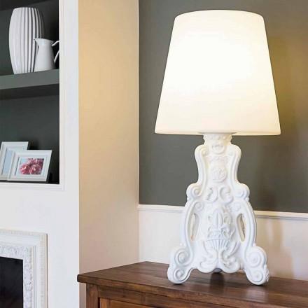 Lampă de masă colorată Slide Lady of Love design modern realizat în Italia
