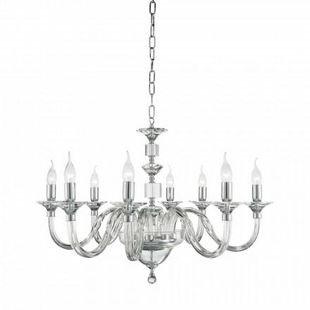 Candelabru lumini de sticlă 8 desgin cu decoratiuni Cristallo Ivy