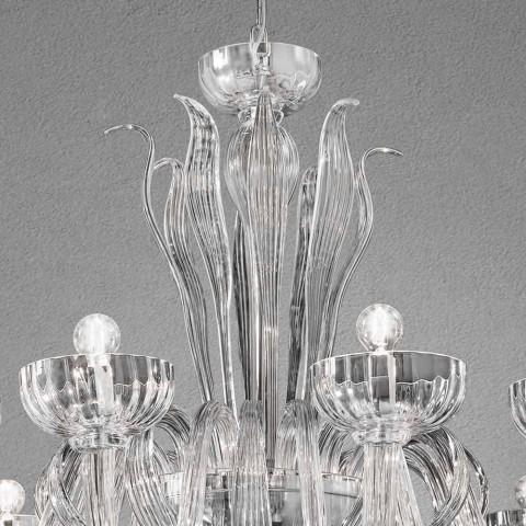 12 candelabre de sticlă venețiană, fabricate manual, fabricate în Italia - Regina