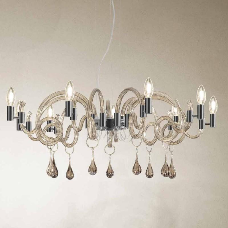 9 candelabre de sticlă de la Veneția, fabricate manual, fabricate în Italia - Bernadette