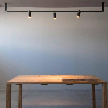Candelabru de design modern Fabricat manual din fier negru Fabricat în Italia - Pamplona