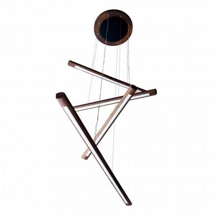 Un candelabru de design cu 4 piese din lemn Grilli York fabricat în Italia