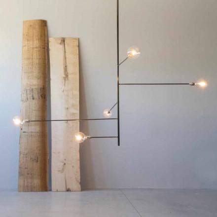 Candelabru modern realizat manual cu structură de fier Fabricat în Italia - Tinna