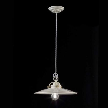 candelabru de epocă industriale din ceramică lucioasă Gloria Ferroluce