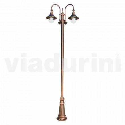 Lampa exterioară cu trei lumini din aluminiu, fabricată în Italia, Anusca