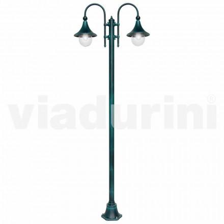 Lampa exterioară cu două lumini din aluminiu turnat, fabricată în Italia, Anusca