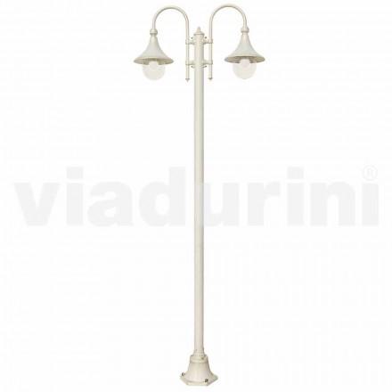 Lampa de grădină realizată cu aluminiu turnat sub formă de alb, fabricată Italia, Anusca