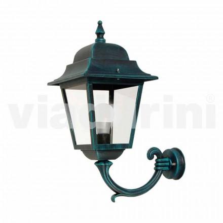Lanternă de perete de grădină realizată din aluminiu, produsă în Italia, Aquilina