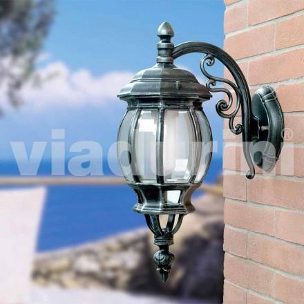 Lanternă de perete de grădină realizată din aluminiu, produsă în Italia, Anika