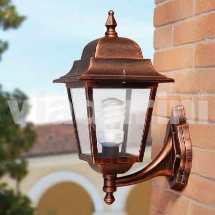 Lanternă de perete de grădină realizată din aluminiu, făcută în Italia, Aquilina