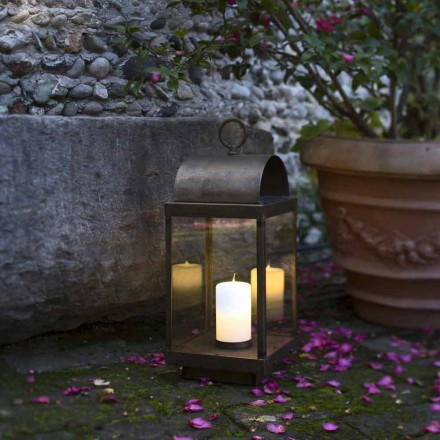 Gradina Lantern cu fier sau alama lumânare Il Fanale