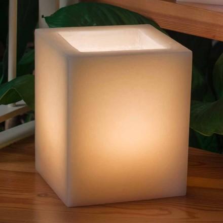 Lanterna cu ceară parfumată Efect razuit cu lumânare fabricată în Italia - Famme