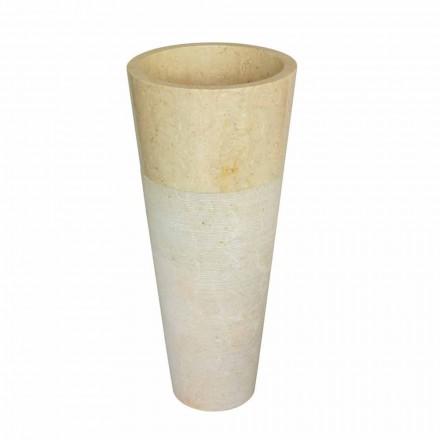 Cone coloană chiuveta din piatra naturala bej Raja