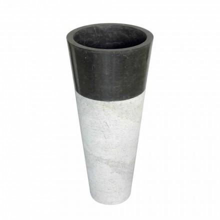 Cone coloană chiuvetă din piatră naturală neagră Raja