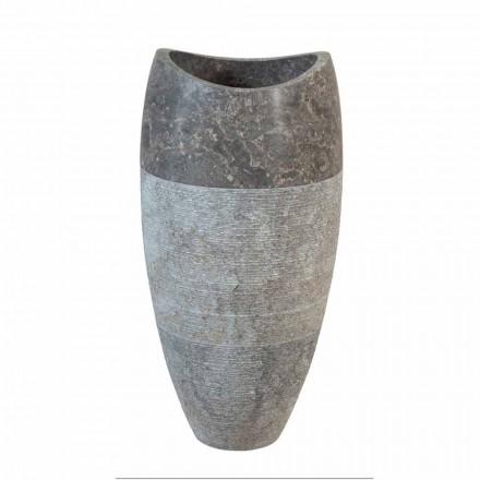 chiuvetă coloană sferică piatră naturală Gili fum