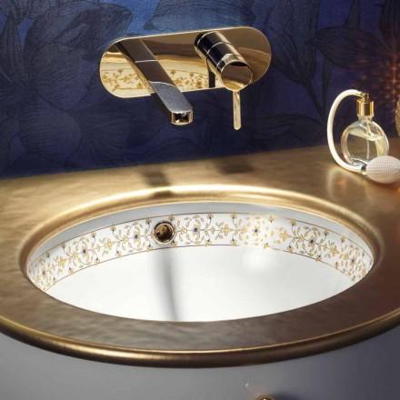 Design baroc construit-in chiuveta în foc argilă făcut în Italia, Egeo