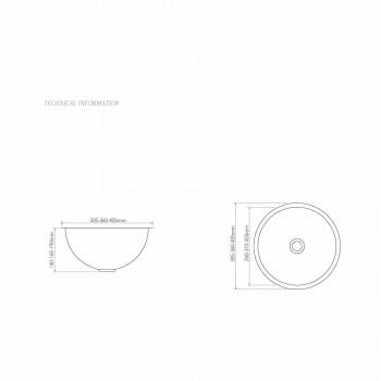 Chiuvetă cupru suport de design cu finisaj nichel satinat Pure