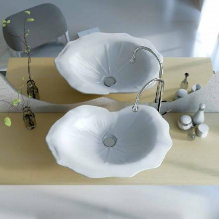 Chiuveta de design modern, în formă de frunză de Faruglium