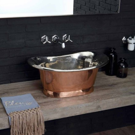 baie Chiuvetă de cupru rulment cu finisaj din Calla nichel lustruit