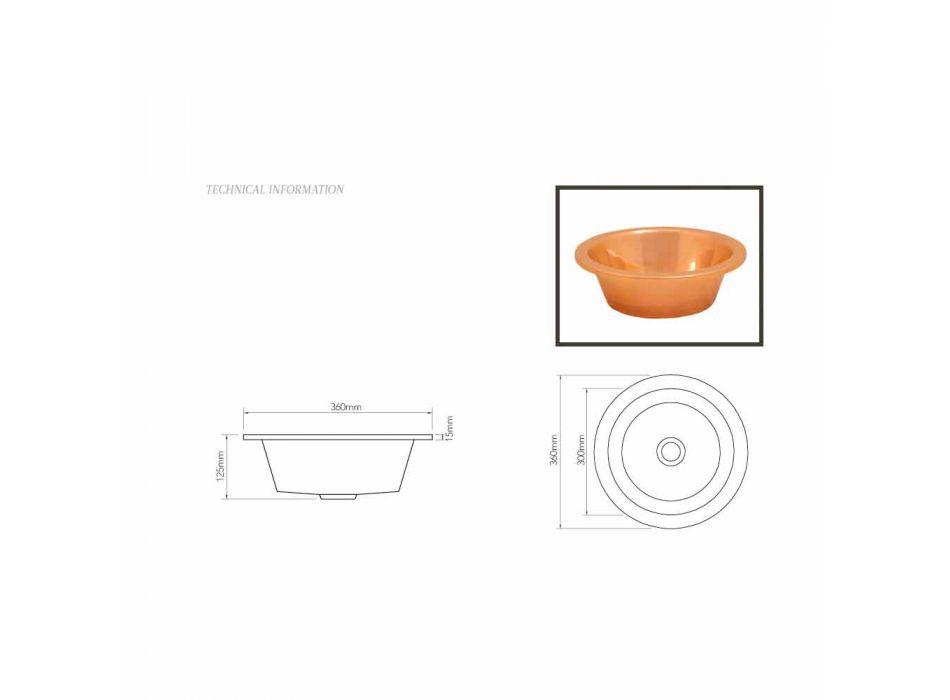 baie Chiuvetă de cupru rulment lucrate manual unic