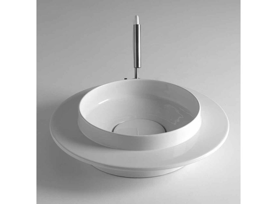 Rotunde ceramica baie chiuveta cu baza metalica Kathy