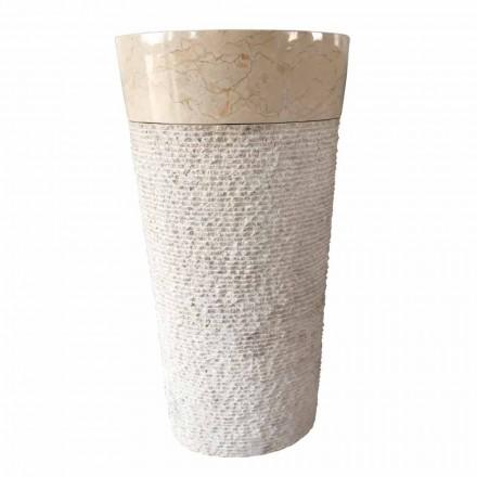 Siro design chiuveta albă din piatră naturală, piesă unică