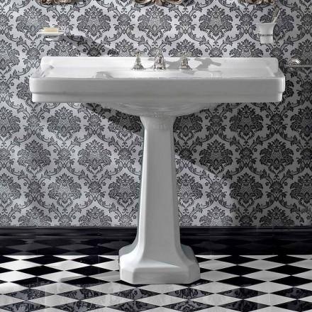 Bazin de spălare a consolei pe coloană vintage în ceramică făcută în Italia - Marwa
