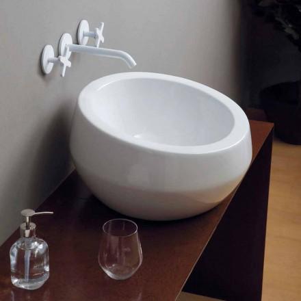Circular de design chiuveta ceramica făcute în Italia Elisa