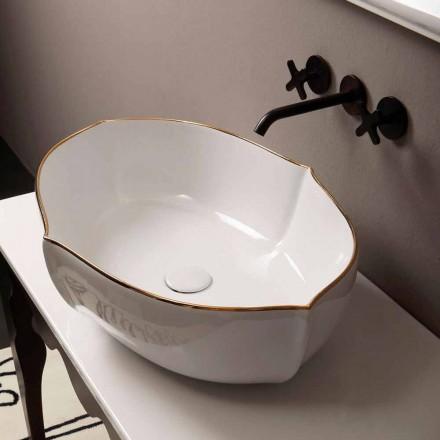 Blat de proiectare chiuvetă din aur alb ceramic fabricat în Italia Oscar
