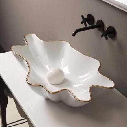 Blat de proiectare chiuvetă din aur alb ceramic fabricat în Italia Rayan