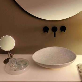 Albă de ceramică ceramică design chiuvetă blat de Italia făcut Animale