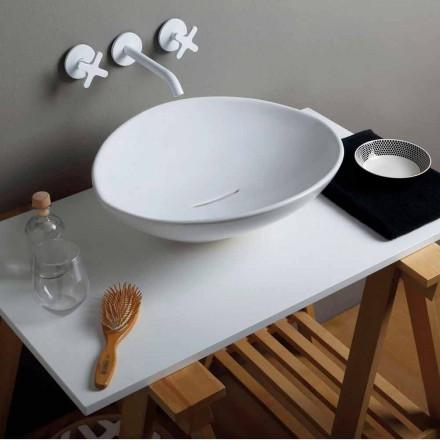Design modern, chiuveta ceramica realizata in Italia