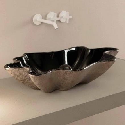 Blat de blat din ceramica negru si argintie fabricat in Italia Rayan