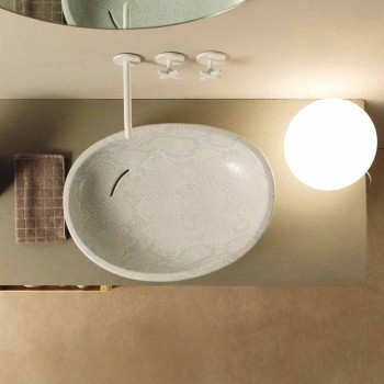 Albă ceramică de proiectare python design made in Italy Glossy