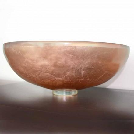 Chiuvetă de blat design din rășină transparentă și cupru - Salvatore