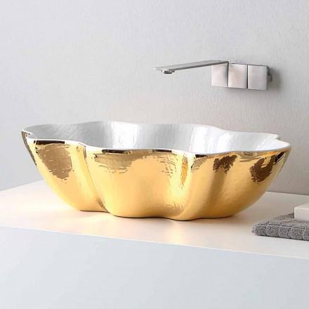 Design modern, chiuveta ceramica din Italia Cube