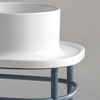 Chiuvetă integral bază metalică ceramică Marta