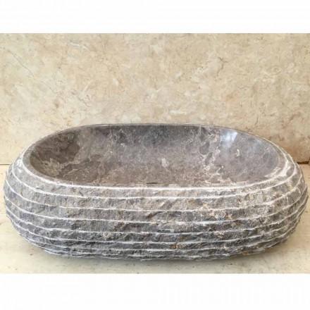 Ivy chiuveta din piatra gri din piatra, piesa unica de design
