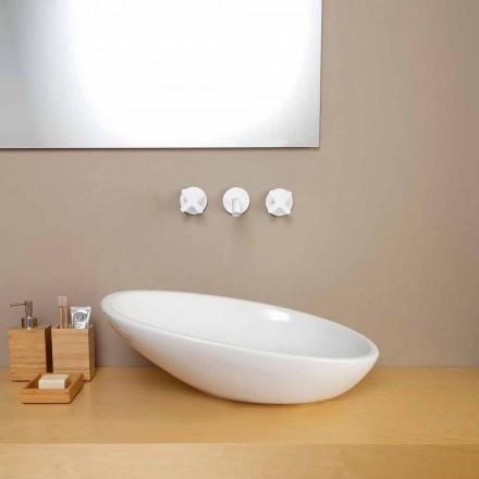 Design chiuveta ceramică înclinată făcută în Italia Glossy