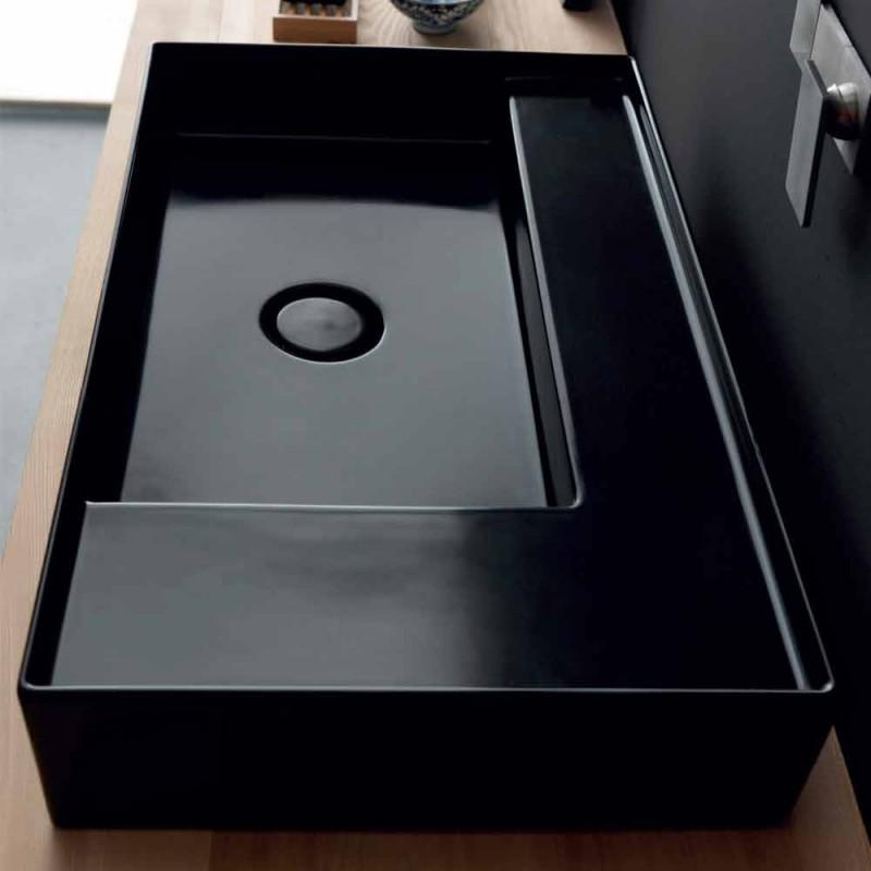 suport Chiuvetă moderne Icon negru din ceramica Alice Ceramica