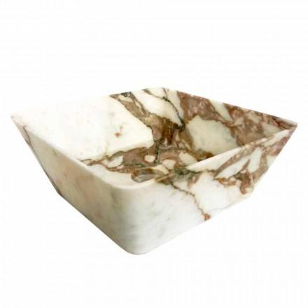 Chiuvetă modernă de blat din marmură Calacatta de design Made in Italy - Kuore