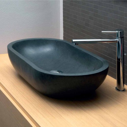 Lavoar oval bazalt negru Riau