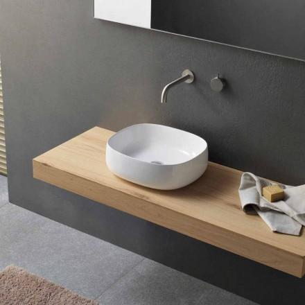 Lavoar de blat în ceramică albă Design oval modern - Tune3