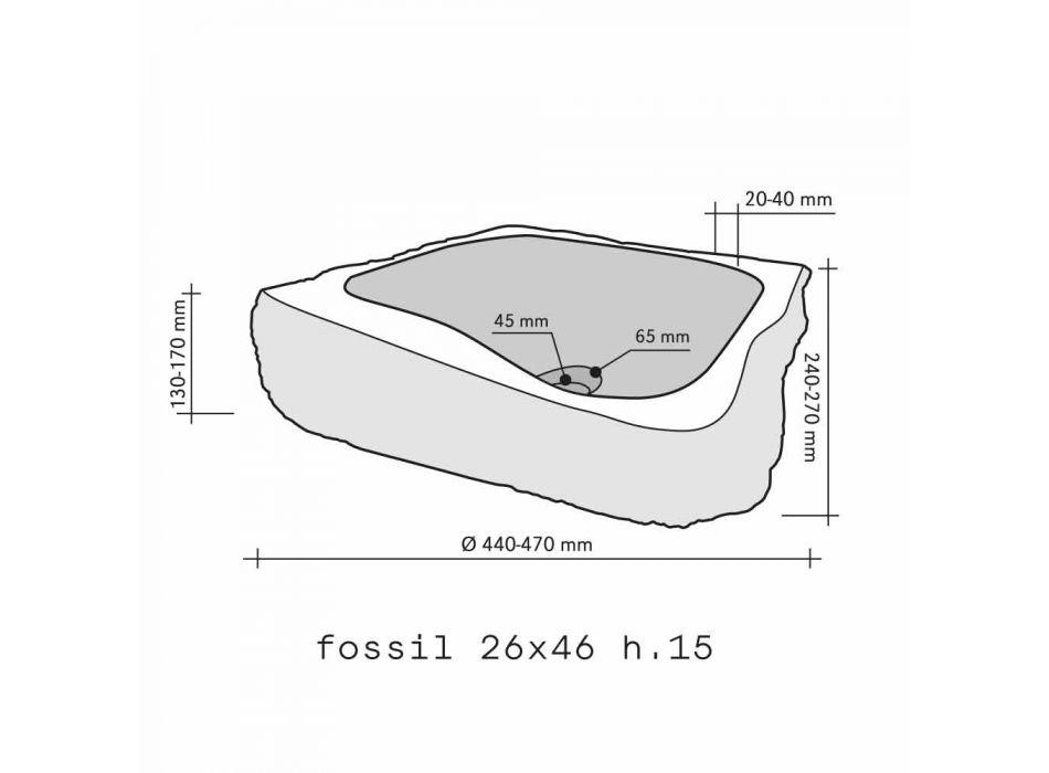 Chiuveta Sprijinirea Bucata de lemn Fossil Goa