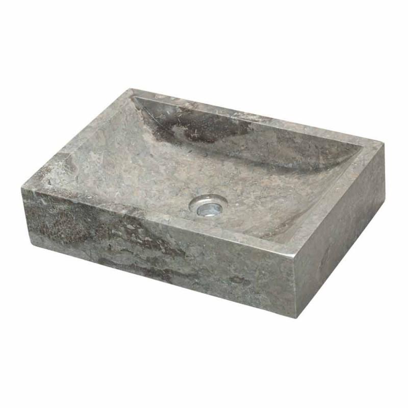 Sprijinirea chiuveta pătrat Natural Stone Gray Jakarta