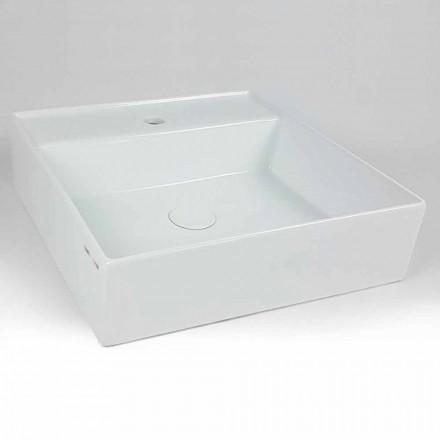 Lavoar de blat din ceramică modernă pătrat fabricat în Italia - Piacione